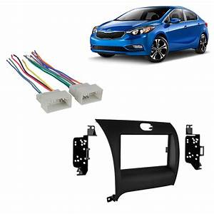 Kia Forte 2014 Double Din Aftermarket Car Stereo Harness