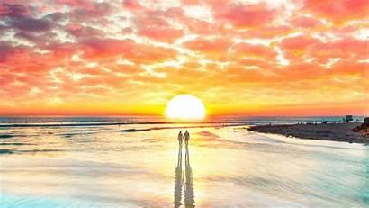 Sunset 4k Couple Beach Wallpapers Digital Watching