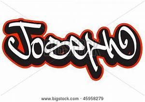 Joseph graffiti font style name. Hip-hop design template ...