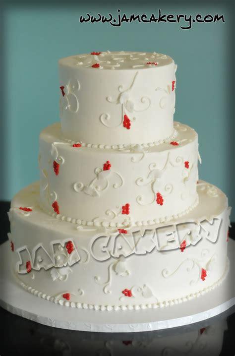 christmas wedding cake jam cakery