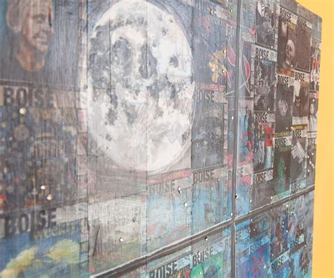 Des milliers de nouvelles images de grande qualité ajoutées chaque jour. Detail of the moon in the Coffee with the Community painting. ©Meg Kahnle   Painting, New art, Art
