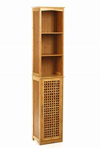 Meuble De Salle De Bain En Bambou : colonne sdb bambou ~ Edinachiropracticcenter.com Idées de Décoration
