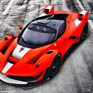 Red and White Ferrari FXX