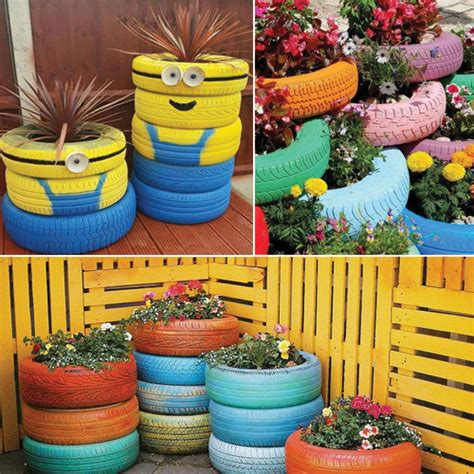 Garden Decoration Recycled by 40 Ideas For Gardening With Recycled Items Plantdecors