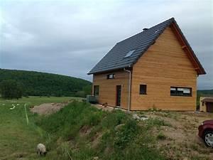 Bardage Claire Voie Horizontal : abt construction bois maison ossature bois avec garage ~ Carolinahurricanesstore.com Idées de Décoration