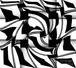 Geometric Art Black White Abstract No.173. Digital Art by ...