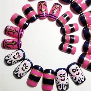 Fake Nails - Kawaii & Nautical Press On from ...