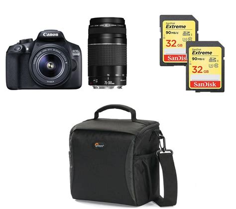Buy Canon Eos 1300d Dslr Camera, Twin Lenses & Accessories