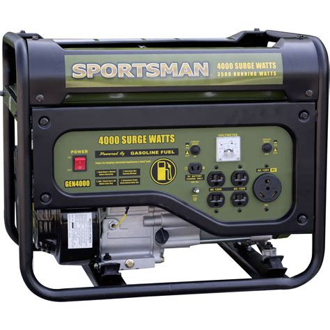 Generator Tool by Sportsman Gasoline Powered 4000w Portable Generator Black