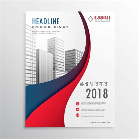 How To Design A Company Brochure by Wavy Business Brochure Design Vector Free