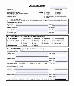 23 hr complaint forms free sample example format for Free human resources forms and templates