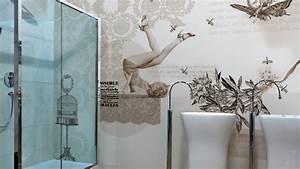 Badezimmer Tapete Wasserabweisend : papier peint en vinyle avec critures pin up by glamora ~ Frokenaadalensverden.com Haus und Dekorationen