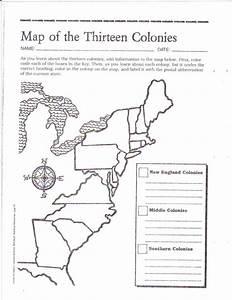 Free Printable 13 Colonies Map Social Studies