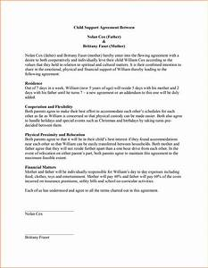 Child Support Letter Template Child Support Agreement Letter
