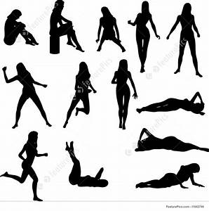 Sexy woman silhouette pictures