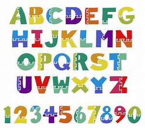 wooden puzzle font embroidery font annthegran With puzzle piece letters