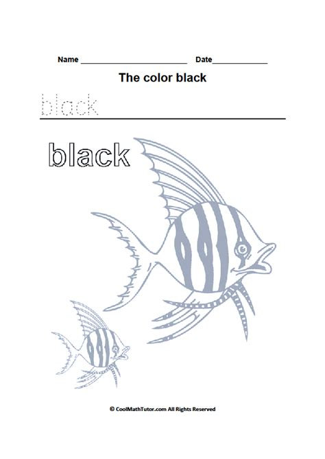 black worksheet color black worksheets for kindergarten
