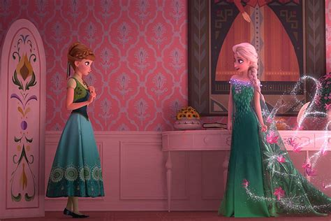 frozen fever  anna elsa   gang