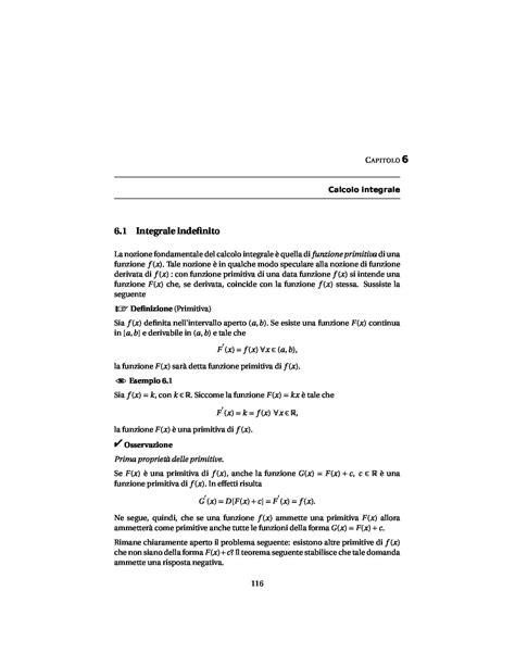 dispense matematica generale calcolo integrale dispense