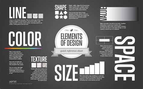 elements of design quick reference sheet paper leaf