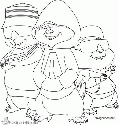 Alvin En De Chipmunks Kleurplaat by Kleurplaten Alvin And The Chipmunks Kleurplaten