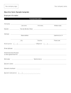 new hire forms template event planning template forms fillable printable sles for pdf word pdffiller