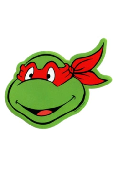 teenage mutant ninja turtles raphael face sticker crafts