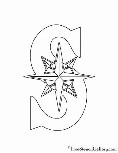 Mariners Seattle Stencil Mlb Coloring Pages Pumpkin