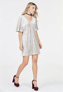Silver Velvet Dress Clothing In Silver Get Great Deals