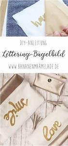 Bügelbild Selber Machen : diy lettering b gelbild selbermachen taschen ~ Watch28wear.com Haus und Dekorationen
