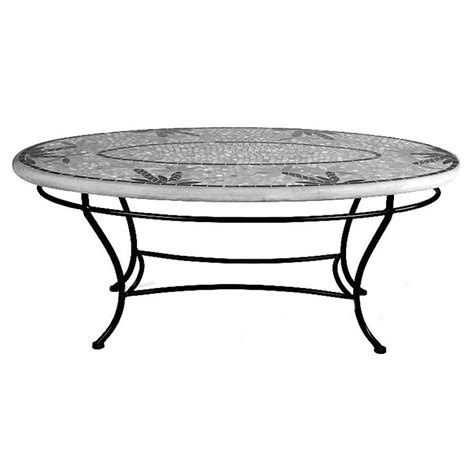 knf garden designs mosaic oval coffee table 42x24