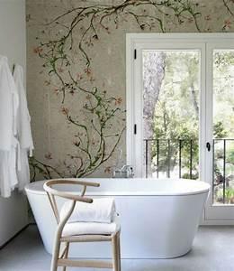Tapete Für Badezimmer : designer tapeten und wanddekoration f rs badezimmer ~ Watch28wear.com Haus und Dekorationen