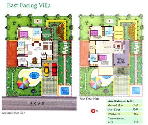 500 Sq yards East Facing Villa Floor Plan