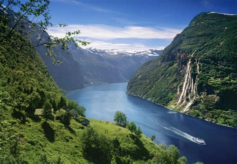 The Geirangerfjord Area Norway Fjords And Waterfalls