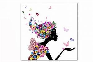 tableau enfant fee des fleurs 50x50 cm tableaux enfants With déco chambre bébé pas cher avec livrer des fleurs en angleterre