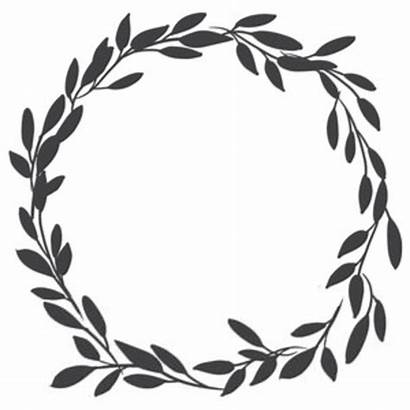 Olive Branch Silhouette Leaf Clipart Wreath Clip