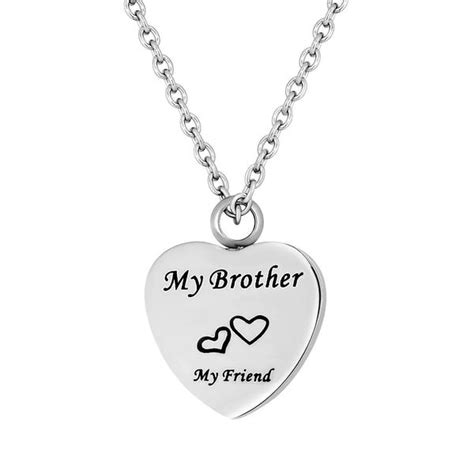 brother cremation necklace  ashes cremation urn