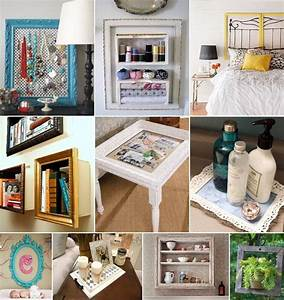 50 ideas to recycle old picture frames for home decor for Interior decor recycling
