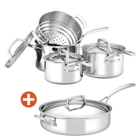 essteele  sempre  piece cookware set   covered