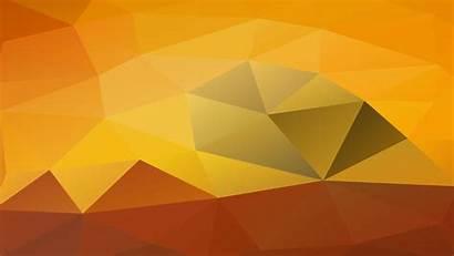 Desktop Orange Polygon Yellow Brown Pattern Wallpapers
