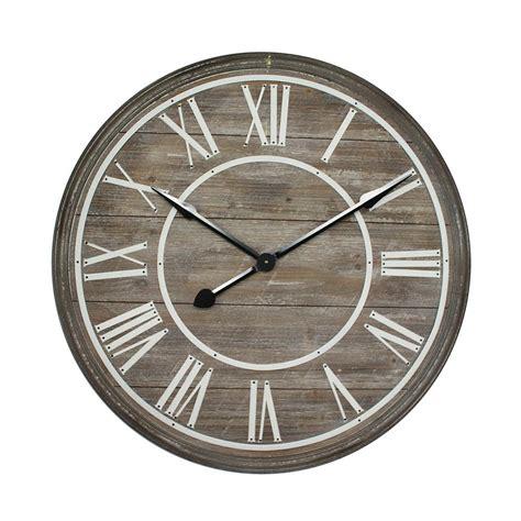 home decor wall clocks yosemite home decor rustic age distressed brown oversized