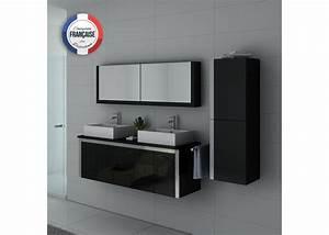 Meuble De Salle De Bain Double Vasque : meuble salle de bain ref dis026 1500n ~ Teatrodelosmanantiales.com Idées de Décoration