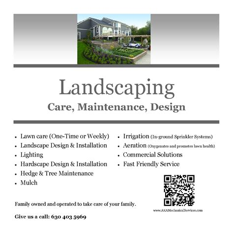 landscaping flyer many more