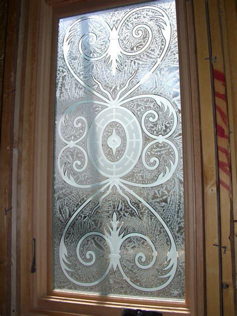 Lazio Glass Window Etched Glass Tuscan Design