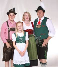 Traditional German Clothing Family