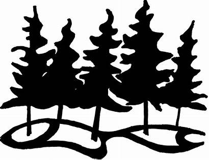 Clipart Clip Forest Nature Outline Animals Path