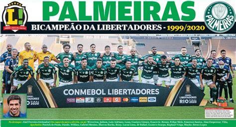 Revista pôster do Palmeiras campeão da Libertadores-2020 ...