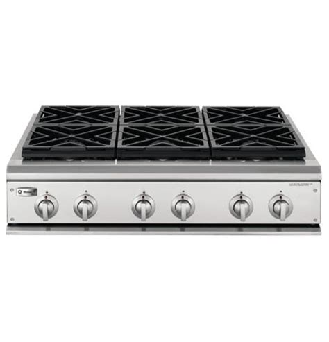 zgulhss ge monogram  professional gas cooktop   burners liquid propane