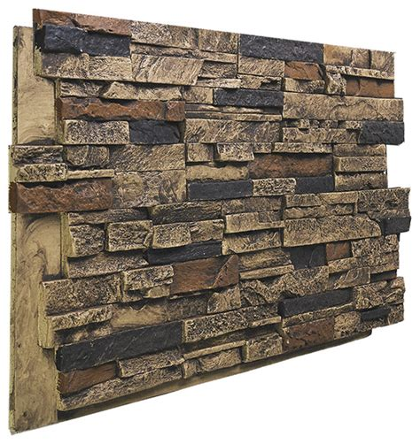 stacked panels stacked stone wall panel aztec contemporary wall panels by buy faux stone
