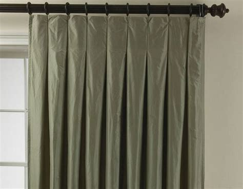 Hang Curtain Rods by A Classic Trio Inverted Box Pleats Pencil Pleats Pinch